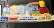 Disney Baby Winnie The Pooh Wooden Stacking Train Set Toy By Melissa And Doug G6