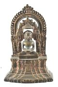 Vintage Lord Buddha Statue Brass Handcrafted Unique Indian Idol Home Décor Art