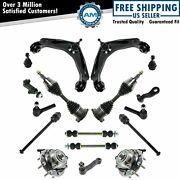 New 17pc Front Wheel Hub And Bearing Assembly Kit For Chevy Gmc 4x4 Abs - 8-lug