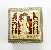 Jewelry Box Silver Gold Plated Handmade Thewa Work Box Vintage Collectible India