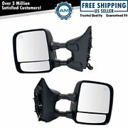 Towing Mirrors Power Heated Telescoping Towing Chrome Pair Set Of 2 For Titan
