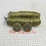 200 Pieces Collection Old Chinese Antique Brass Empire Coins Diameter 0.91inch