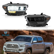 Pair Left And Right Led Reflector Headlights Assembly For Toyota Tacoma 2015-2020