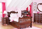 Disney Princess Collection Bedroom Set In Cherry - Pick Up Only