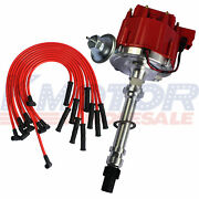 10.5mm Red 90 Spark Plug Wires And Distributor For Sbc Bbc 350 305 454 V8and039s Hei