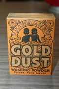 Early 1900s Antique Fairbanks Gold Dust Washing Powder Box Unopened