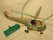 Vtg Alps Japan Battery Operated Remote Control Tin Toy Helicopter Incomplete
