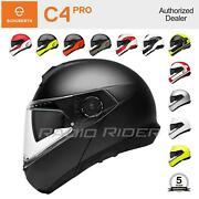 New Schuberth C4 Pro Motorcycle Flip-up Helmet | All Sizes And Colors | Free Ship