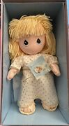 Precious Moments Guardian Angel Doll And Pin 14 H