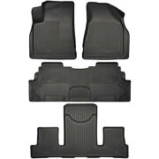 Set-h2118211 Husky Liners Floor Mats Front New Black For Chevy Gmc Acadia Buick