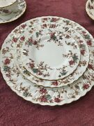 Vintage Minton Ancestral Complete Dinnerware 86 Pieces- Free Shipping