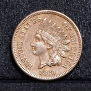 1860 Indian Cent - Xf 34405