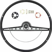 Oer Black Steering Wheel Kit 1963 Chevy Impala With Ss Emblem
