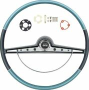 Oer Two Tone Blue Steering Wheel Kit 1963 Chevy Impala With Ss Emblem
