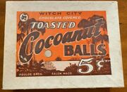 Rare 1930's Witch City Chocolate Covered Cocoanut Balls Candy Display Box Salem