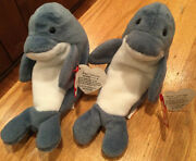 Echo Rare Beanie Babies-mint Condition-new With Error-echo With Waves Tags