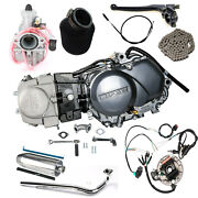 Full 125cc Motor Engine 4 Speed Manual Clutch Pit Dirt Bike Coolster Crf