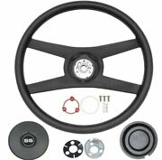 Oer 14 4 Spoke Sport Steering Wheel Kit 1974-1979 Camaro With Shield Emblem