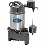 Superior Pump 92151 Stainless Steel Cast Iron Sump Side Discharge Vertical Float