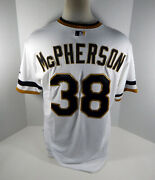 2013 Pittsburgh Pirates Kyle Mcpherson 38 Game Issued White Jersey 1970s R Tb