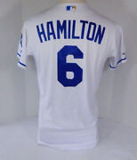 2019 Kansas City Royals Billy Hamilton 6 Game Issued White Jersey 150 Patch 312