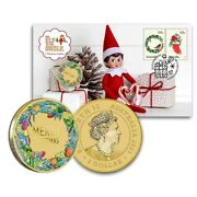 Australia Christmas 2020 1 The Elf On The Shelf Stamp And Coin Cover Pnc