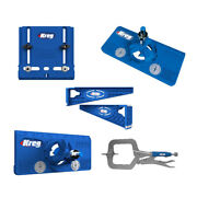 Kreg Drawer Slide Hardware And Hinge Jig With Two 2 Face Clamp