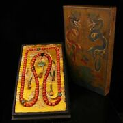 Chinese Rare Qing Dynasty Court Collection Red Coral Chaozhu Necklace