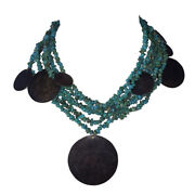 Chan Luu Handmade Sterling Silver Turquoise Nugget Bead Necklace