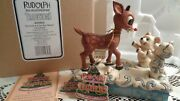 Enesco 2008 Jim Shore Rudolph The Red Nosed Reindeer And Polar Bear Babies New Box