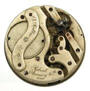 Robert Theurer Automatic Pocket Watch Movement For Parts 1866 Lot W551
