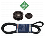 Serpentine Drive Belt Kit With Idler Pulley Bosch / Ina Oem For Mercedes Benz