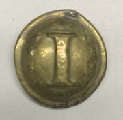 Confederate Local Infantry I With Stars Civil War Coat Button