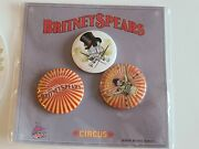 Britney Spears Circus Tour Big Apple 3 Buttons + Sticker.