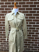 Nwt New Jcrew Camel Long Belted Sz 4 Trench Style Women Coat Top 4 C