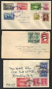 Philippines 1945-48 3 Early Post War Cvr 1 With Victory Stamps And 1 Gen Mccarthur