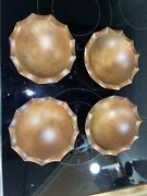 Vintage Woodcroftery Mid Century Modern Wood Bowls 4scalloped Edge Awesome