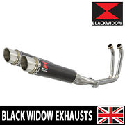 Tdm 900 02-09 2-2 Full Exhaust System 350mm Gp Round Carbon Silencers Cg35r