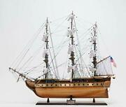 Old Modern Handicrafts Uss Constitution Large With Floor Display Case Home D�...