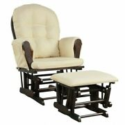 Baby Nursery Relax Rocker Rocking Chair Glider And Ottoman Set-beige - Color B