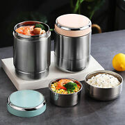 Thermal Insulated Lunch Box Multiple Tier Thermos Soup Container Jar Food Flask