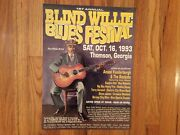 Blind Willie Blues Festival Thomson, Ga 1993 First Annual Poster, New, Rare
