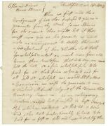 Thomas Buffum / Three-page Autograph Letter Signed To Horace Stearns Hatter