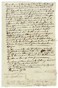 William Sheldon / One-page Legal Document Concerning Additional Pay 1791