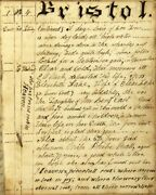 Amos T Gorham / Lengthy Manuscript Journal Containing News Of The 1841 Rhode