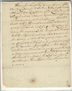 Manuscript Resolution Not To Admit Officers Appointed By John Temple Esq 1760
