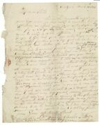 Charles D'wolf, Capt / One-page Autograph Letter Signed To My Dear Child 1815