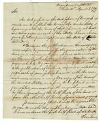 Timothy Pickering / Two-page Autograph Letter Signed To John Carter Jun 1799