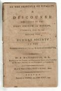 Benjamin Waterhouse / On The Principle Of Vitality Discourse Delivered