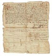 Andrew Harris / Deed For Pawtuxet Land To Jacob Clarke Signed By Danand039l Abbott